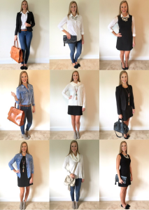 6 pieces, 9 outfits