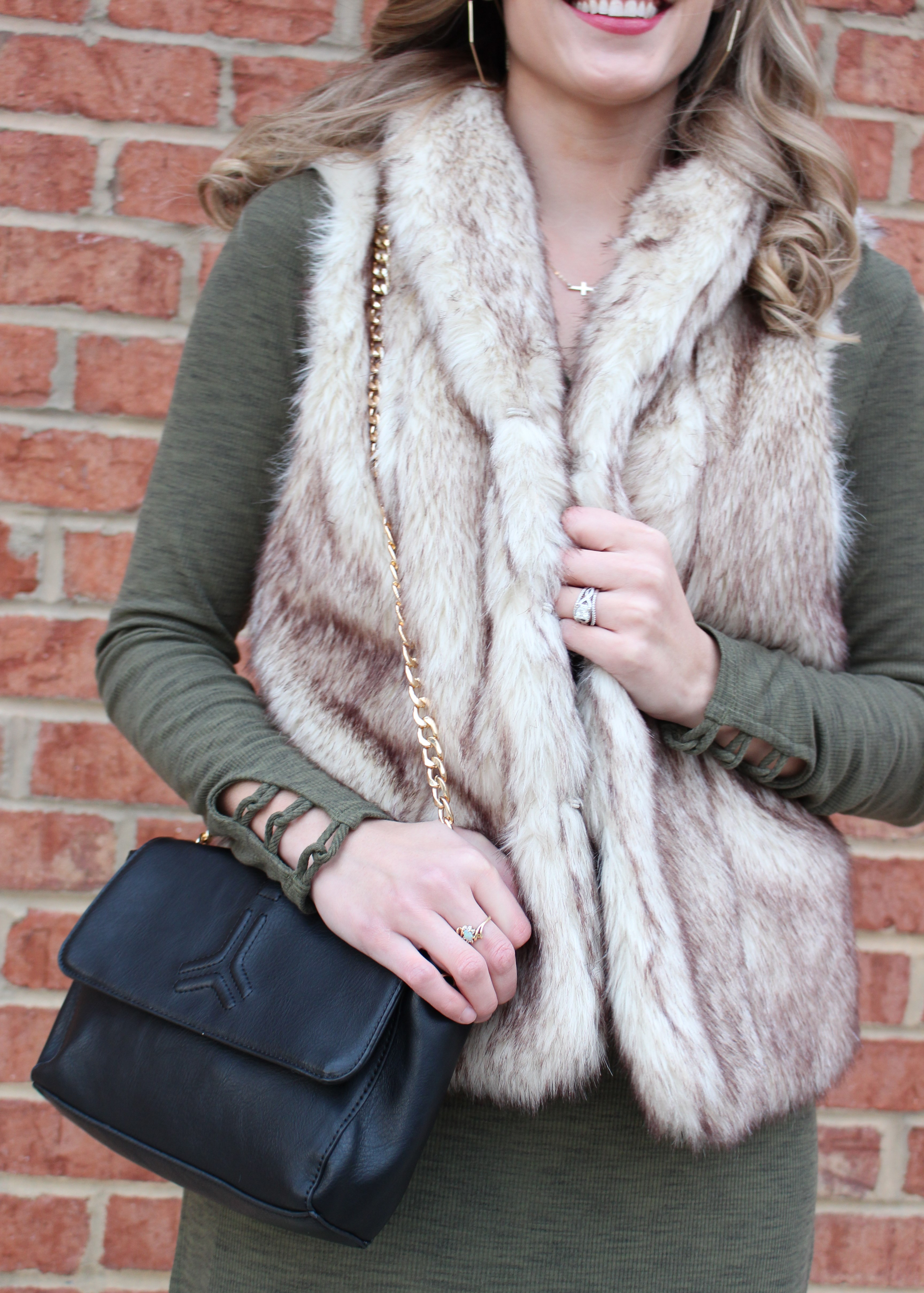 Anthropologie Tunic and Faux Fur Vest