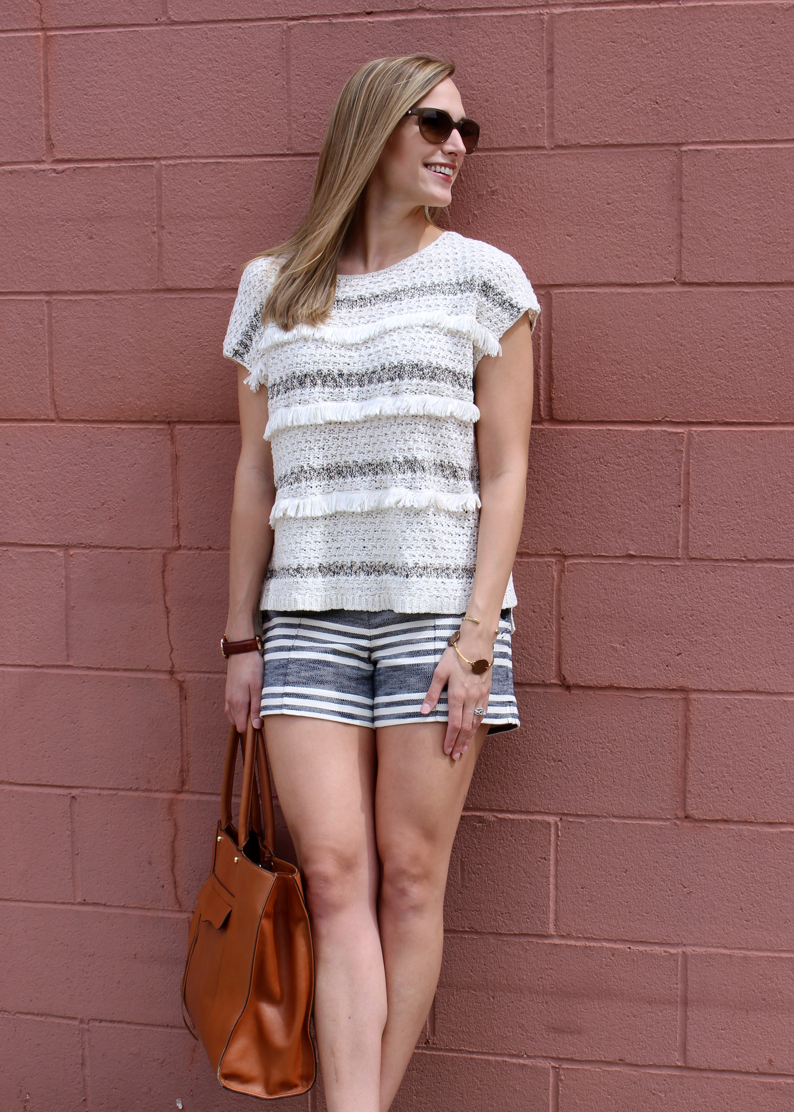 Ann Taylor Loft Top and Shorts